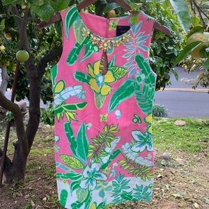Just Taylor Tropical Floral Dress